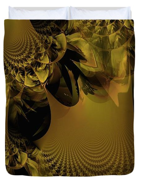 The Golden Mascarade Duvet Cover by Maria Urso