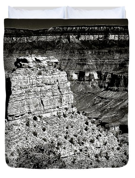 The Grand Canyon Bw Duvet Cover by Bob and Nadine Johnston
