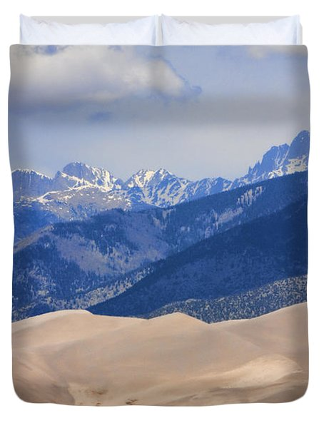The Great Sand Dunes Color Print 45 Duvet Cover by James BO  Insogna