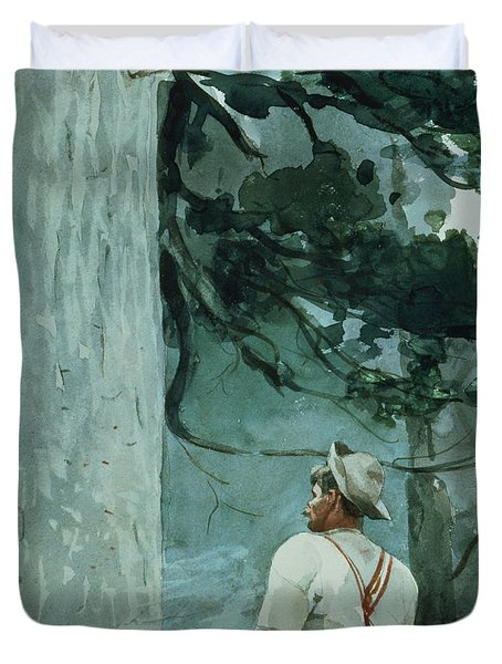 The Guide Duvet Cover by Winslow Homer