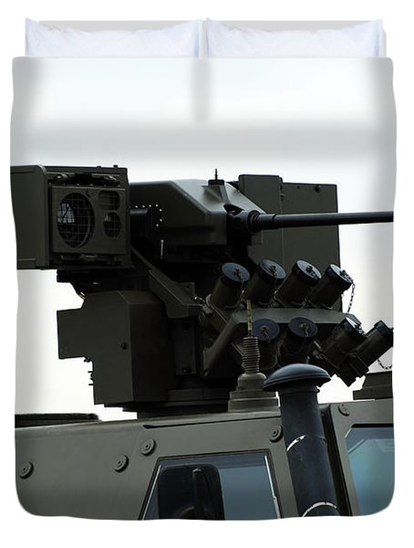The Gun Mounted On Top Of The Dingo II Duvet Cover by Luc De Jaeger