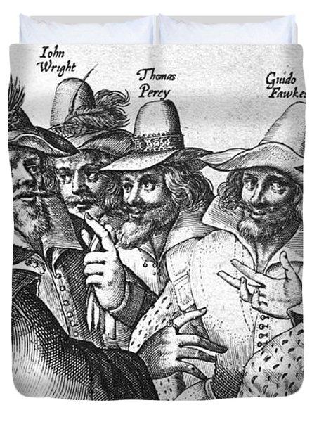 The Gunpowder Rebellion, 1605 Duvet Cover by Photo Researchers