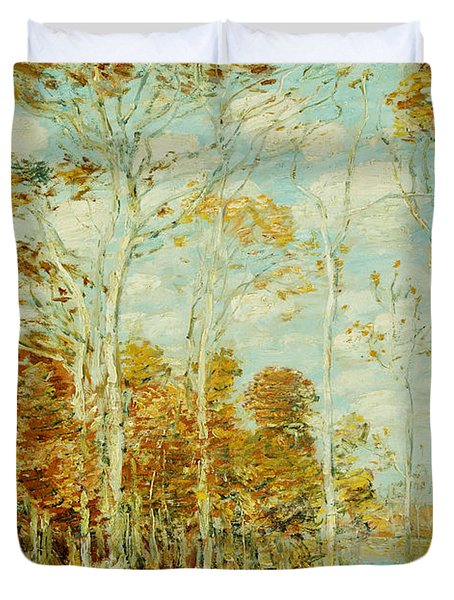 The Hawk's Nest Duvet Cover by Childe Hassam