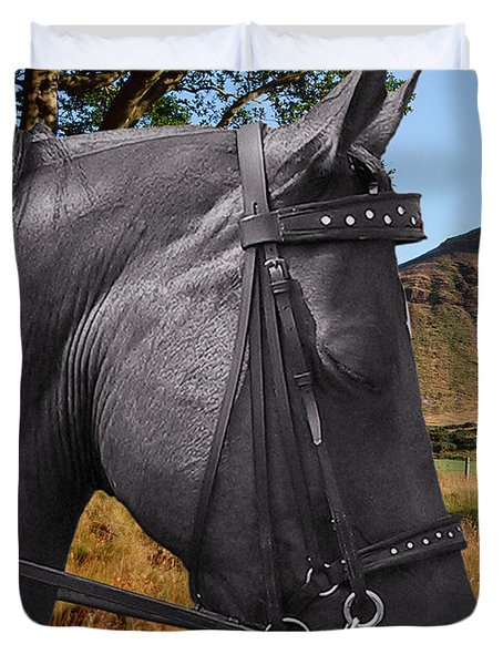 The horse - God's gift to man Duvet Cover by Christine Till