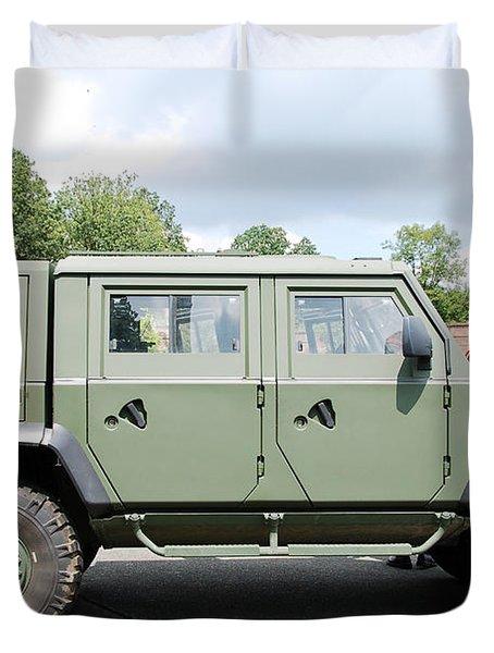 The Iveco Light Mulirole Vehicle Duvet Cover by Luc De Jaeger