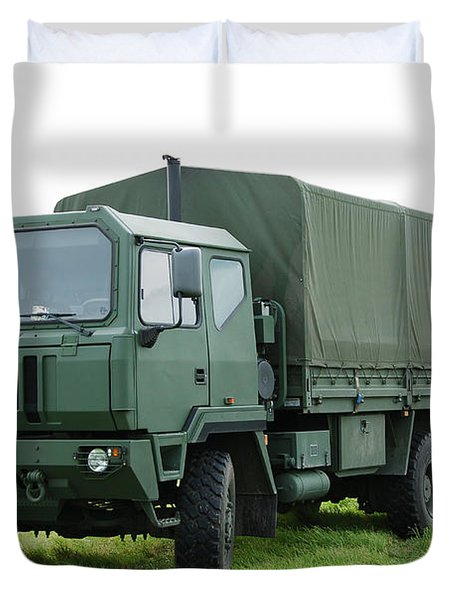 The Iveco M250 Used By The Belgian Army Duvet Cover by Luc De Jaeger
