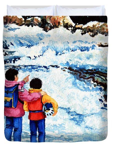 The Kayak Racer 14 Duvet Cover by Hanne Lore Koehler