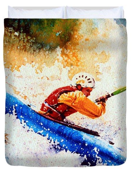 The Kayak Racer 17 Duvet Cover by Hanne Lore Koehler