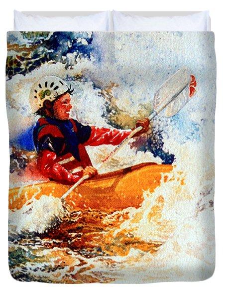 The Kayak Racer 19 Duvet Cover by Hanne Lore Koehler