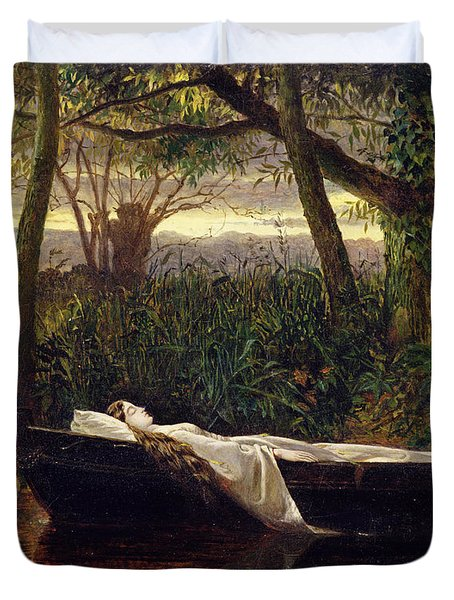 The Lady Of Shalott Duvet Cover by Walter Crane