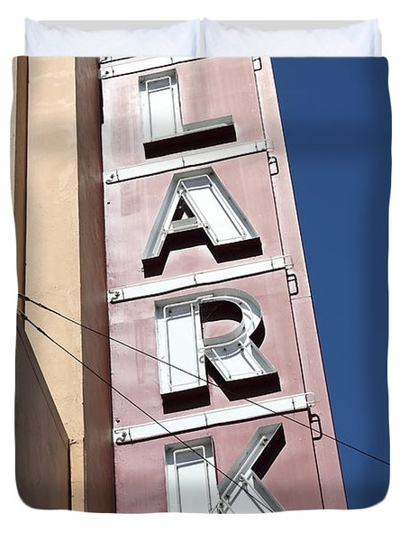 The Lark Theater In Larkspur California - 5d18489 Duvet Cover by Wingsdomain Art and Photography