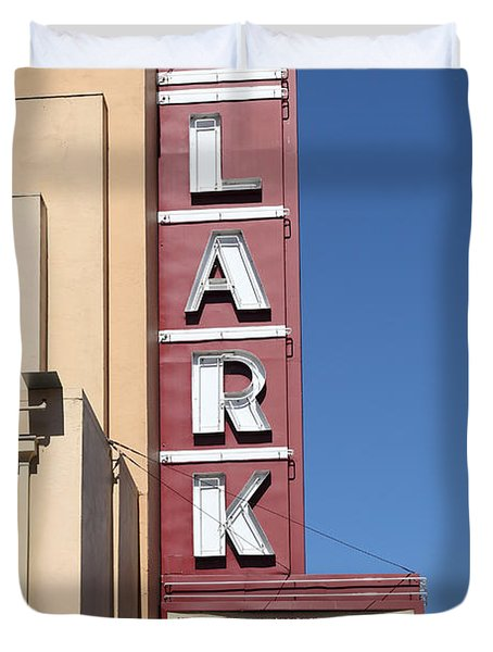 The Lark Theater in Larkspur California - 5D18490 Duvet Cover by Wingsdomain Art and Photography