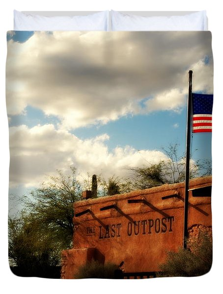 The Last Outpost Old Tuscon Arizona Duvet Cover by Susanne Van Hulst