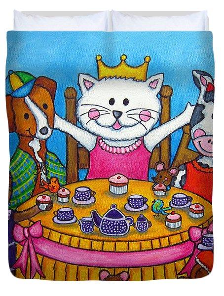 The Little Tea Party Duvet Cover by Lisa  Lorenz