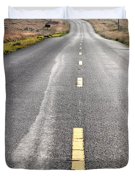 The Long Road Home . 7D9898 Duvet Cover by Wingsdomain Art and Photography