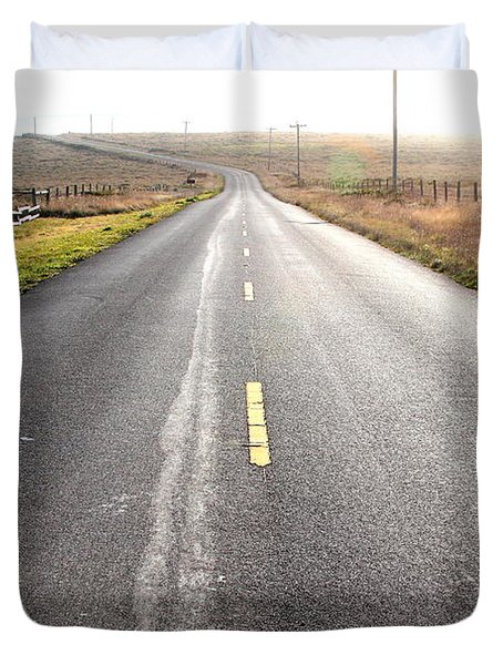 The Long Road Home . 7d9903 Duvet Cover by Wingsdomain Art and Photography