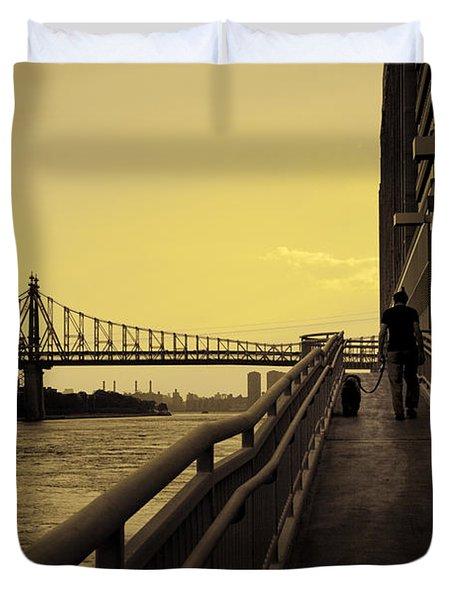 The Long Walk Duvet Cover by Madeline Ellis