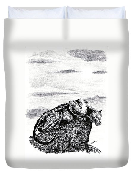 The Look Out Duvet Cover by Elizabeth Harshman