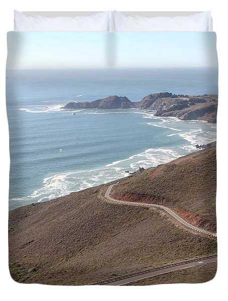 The Marin Headlands - California Shoreline - 5D19593 Duvet Cover by Wingsdomain Art and Photography