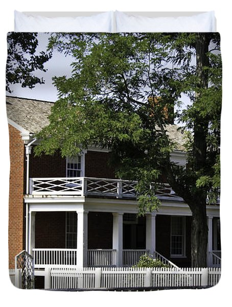 The Mclean House In Appomattox Virgina Duvet Cover by Teresa Mucha