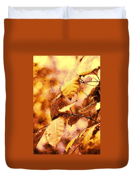 The Melody Of The Golden Rain Duvet Cover by Jenny Rainbow