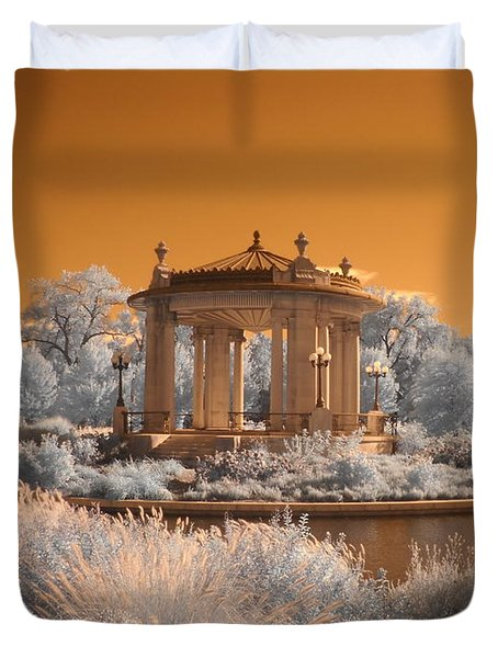 The Muny at Forest Park Duvet Cover by Jane Linders