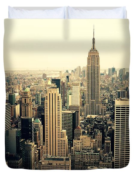 The New York City Skyline Duvet Cover by Vivienne Gucwa