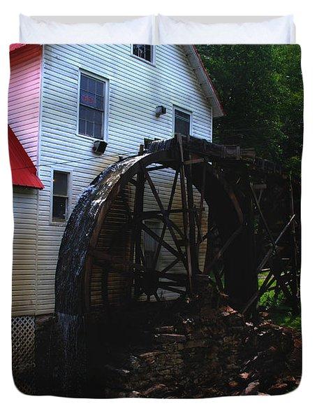 The Old Mill 1886 In Cherokee North Carolina - II  Duvet Cover by Susanne Van Hulst