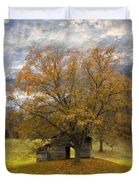 The Old Oak Tree Duvet Cover by Debra and Dave Vanderlaan