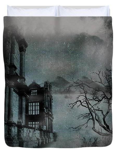 The Old Ruins Duvet Cover by Cheryl Young