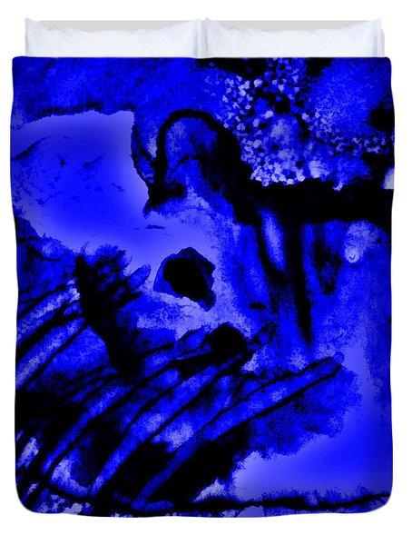 The Origins Of Blue Duvet Cover by Rory Sagner