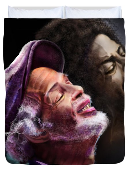The Other Side-gil Scott Finally Going Home Duvet Cover by Reggie Duffie