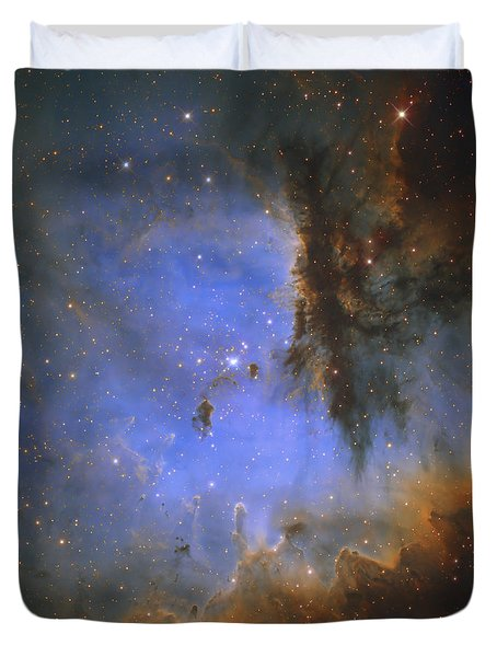 The Pacman Nebula Duvet Cover by Ken Crawford