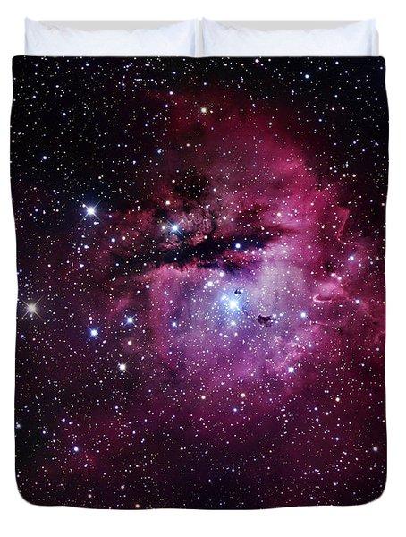 The Pacman Nebula Duvet Cover by Robert Gendler