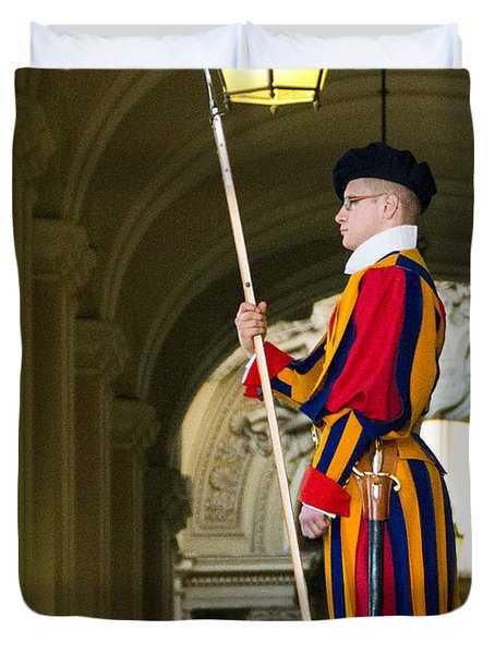 The Papal Swiss Guard Duvet Cover by Jon Berghoff