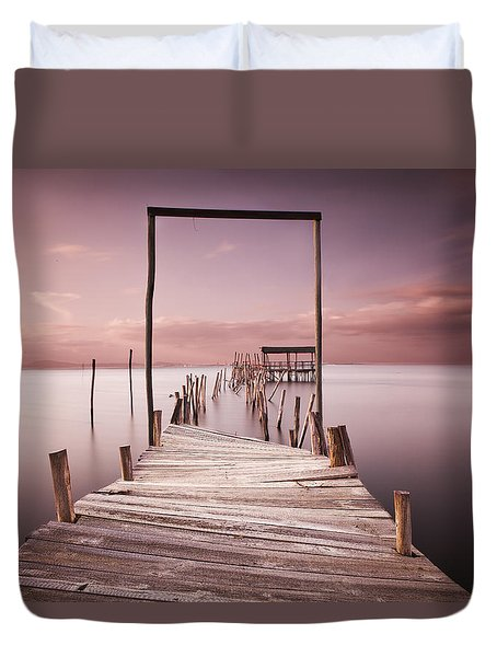The Passage To Brightness Duvet Cover by Jorge Maia