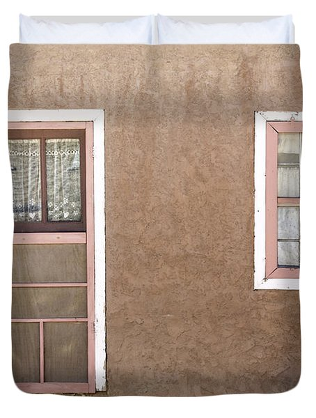 The Pinkertons Live Here Duvet Cover by Glennis Siverson