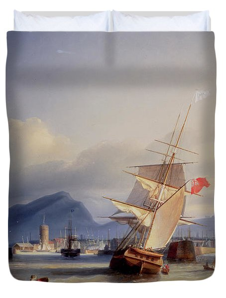 The Port Of Leith Duvet Cover by Paul Jean Clays