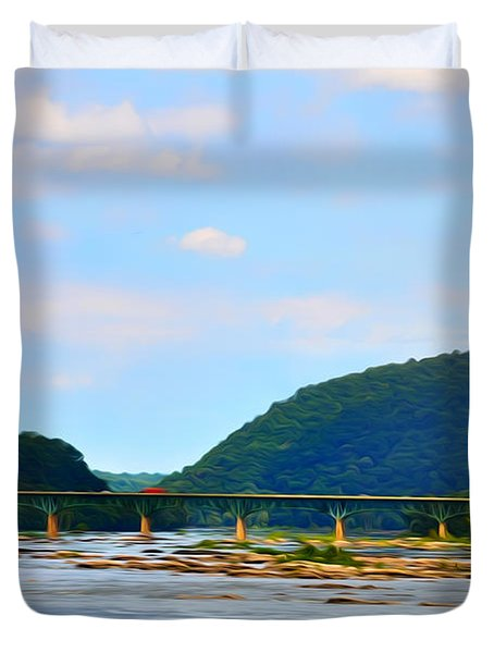The Potomic River West Virginia Duvet Cover by Bill Cannon