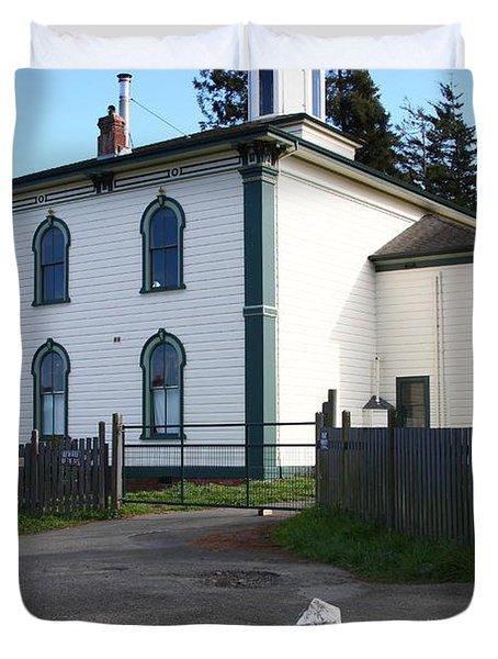 The Potter School House . Bodega Bay . Town Of Bodega . California . 7d12473 Duvet Cover by Wingsdomain Art and Photography