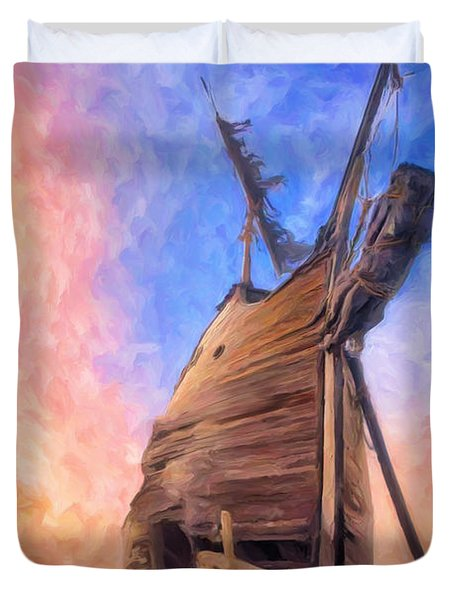 The Ravages Of Time Duvet Cover by Dominic Piperata