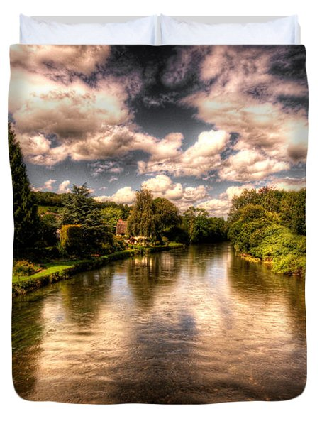 The River Exe At Bickleigh Duvet Cover by Rob Hawkins