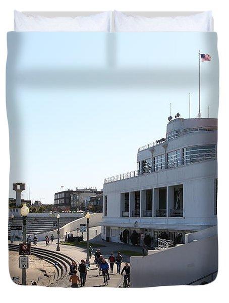 The Sala Burton Building . Maritime Museum . San Francisco California . 7D13993 Duvet Cover by Wingsdomain Art and Photography