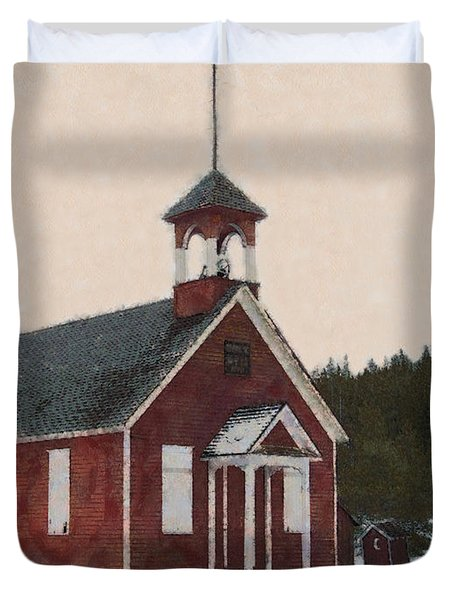 The School House Painterly Duvet Cover by Ernie Echols