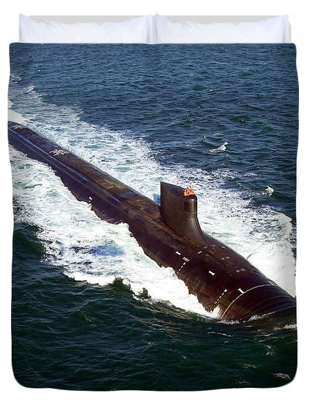 The Seawolf-class Nuclear-powered Duvet Cover by Stocktrek Images