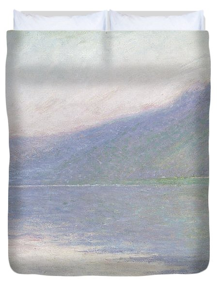 The Seine At Port Villez Duvet Cover by Claude Monet