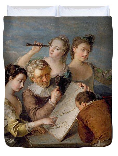 The Sense Of Sight Duvet Cover by Philippe Mercier