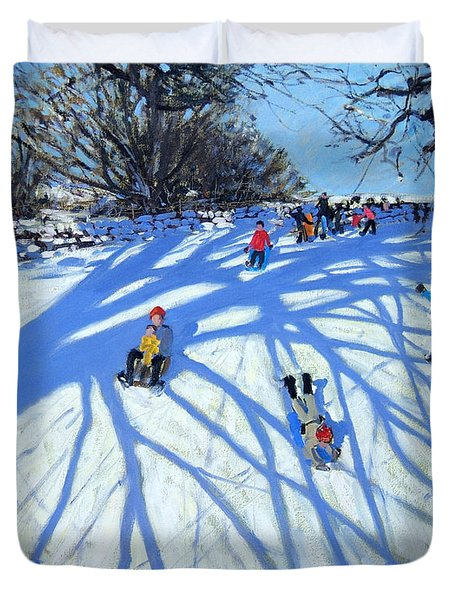 The Shadow Derbyshire Duvet Cover by Andrew Macara