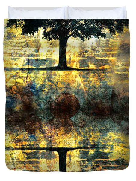 The Small Dreams Of Trees Duvet Cover by Tara Turner