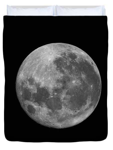 The Supermoon Of March 19, 2011 Duvet Cover by Phillip Jones